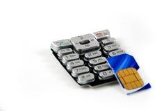 sim кнопочной панели карточки Стоковое Изображение RF