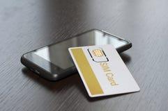 sim мобильного телефона карточки Стоковое Фото