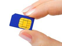 sim телефона руки карточки Стоковое Изображение