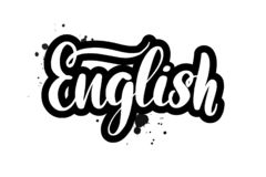 Brush lettering English royalty free illustration