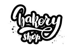 Lettering bakery shop vector illustration