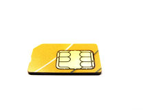 Sim. Card on hite bg Stock Images