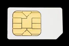 Sim card. Isolated on black background Stock Photo