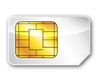 The sim card Royalty Free Stock Images
