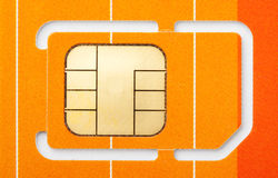 Sim card. Close-up of a mobile phone sim card Royalty Free Stock Images