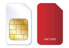 Sim card. For mobile phone devices illustration Stock Photos