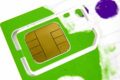 Sim card. A mobile phone sim card Stock Photography