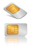SIM card. Vector SIM card in different view angles Stock Image