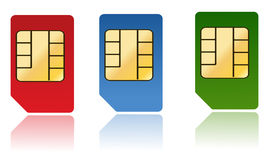 Sim card Royalty Free Stock Photo