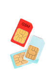 Sim card Stock Photo