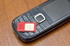 Sim Card Fotografie Stock Libere da Diritti