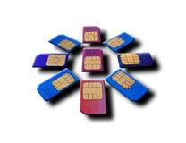 Sim card. As the sun Stock Photo