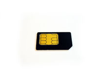 Sim Card. From a cell phone stock images