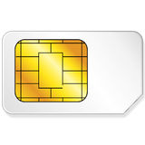 Sim card. Vector sim card in white background Royalty Free Stock Photography