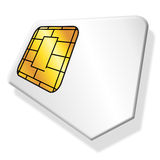 Sim card. Vector SIM card in white background Royalty Free Stock Image