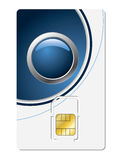 Sim card with abstract design Stock Photos