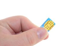 Sim-card Royalty Free Stock Photography