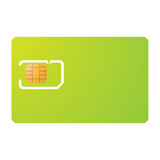 Sim card and carrier template. Mobile phone sim card and carrier template Royalty Free Stock Photography