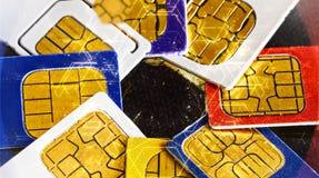 Sim card close-up Royalty Free Stock Photos