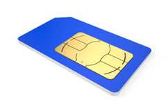 SIM card. Color simcard isolated on white background Stock Photography