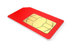 SIM card. Color simcard isolated on white background Royalty Free Stock Photo