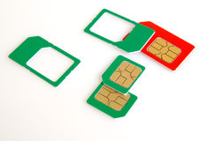 Sim card. Royalty Free Stock Image