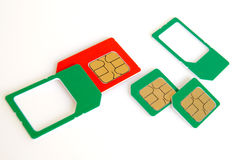 Sim card. Stock Photo