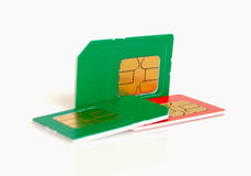 Sim card. Royalty Free Stock Images