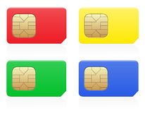 Sim card colour vector illustration Stock Photography