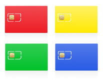 Sim card colour vector illustration Stock Photo
