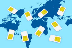 Sim card concept Royalty Free Stock Photo
