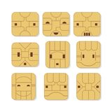Sim Card Faces Stock Photography