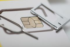 New sim card format nano micro and standard. Sim card format nano micro and standard Royalty Free Stock Image