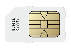 Sim card icon, vector Royalty Free Stock Photography