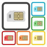 Sim card icons set. Vector icon Royalty Free Stock Photography