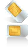 Sim Card Illustration Royalty Free Stock Photography