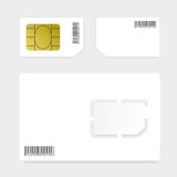 Sim card illustration Royalty Free Stock Image