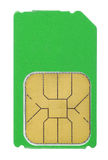 Sim card isolated Royalty Free Stock Photos