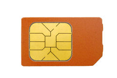 Sim card isolated on white Stock Photography