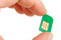 Sim card. Stock Images