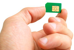Sim card. Stock Images