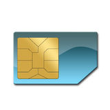Sim card for mobile phone Royalty Free Stock Photo