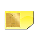 Sim card for mobile phone Royalty Free Stock Images