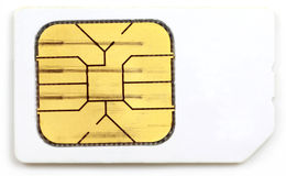 Sim card of a mobile phone Stock Photos