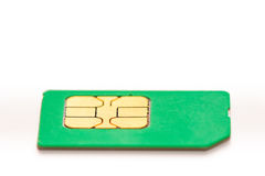 Sim card for mobile phone closeup Stock Photography