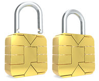 Sim Card Padlock. Stock Images