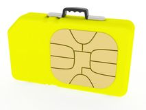 SIM Card represented as case Royalty Free Stock Images