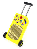 SIM Card represented as a luggage Royalty Free Stock Photography