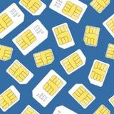 Sim Card Seamless Pattern Background Vettore Fotografia Stock Libera da Diritti