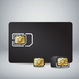 Sim Card Set Royalty Free Stock Photos